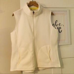 Woolrich White Fleece Vest